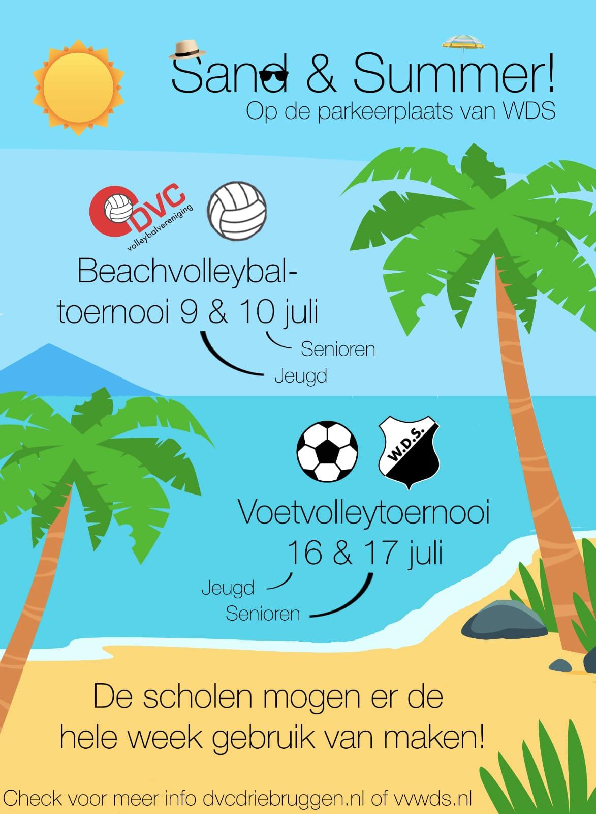 Beachvolleybaltoernooi 10 juli 2021